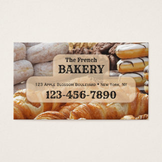 French Bakery Business Card