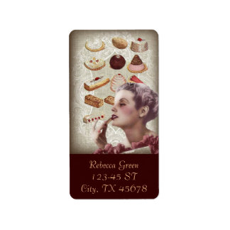 french bakery cupcake pastry desserts label