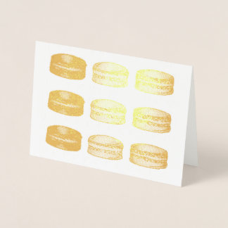 French Bakery Macaron Cookies Food Foodie Pastry Foil Card