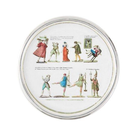 French Ballet Scene Vintage Lapel Pin
