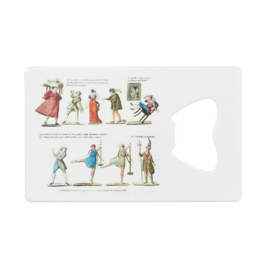French Ballet Scene Vintage Wallet Bottle Opener