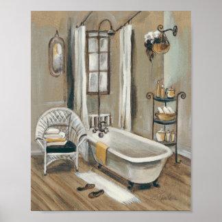 French Bathroom with Bathtub Poster