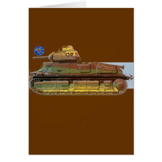 FRENCH BATTLE TANK CARD
