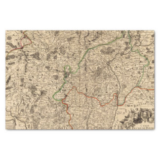 French battlefields and roads tissue paper