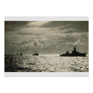 French battleship flotilla poster