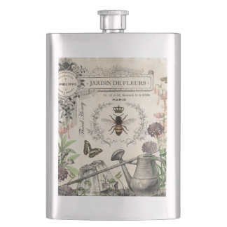 FRENCH BEE GARDEN HIP FLASK