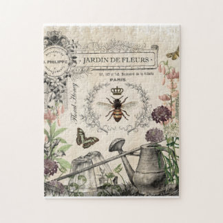 FRENCH BEE GARDEN JIGSAW PUZZLE