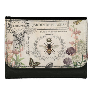 FRENCH BEE GARDEN LEATHER WALLETS
