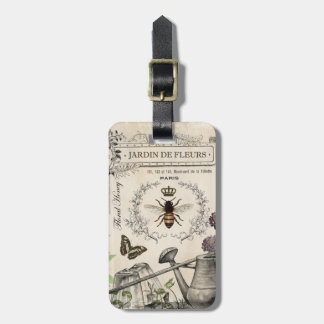 FRENCH BEE GARDEN LUGGAGE TAG