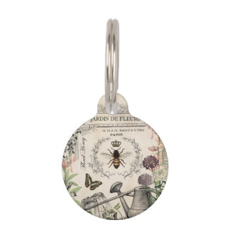 FRENCH BEE GARDEN PET TAG