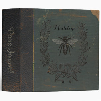 French Bee Personalized 3 Ring Binders