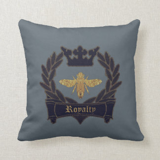 French Bee Throw Pillow