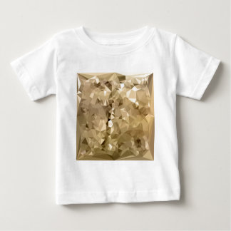 French Beige Abstract Low Polygon Background Baby T-Shirt