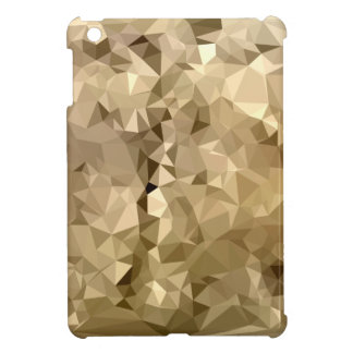 French Beige Abstract Low Polygon Background iPad Mini Cover