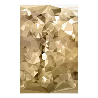 French Beige Abstract Low Polygon Background Stationery