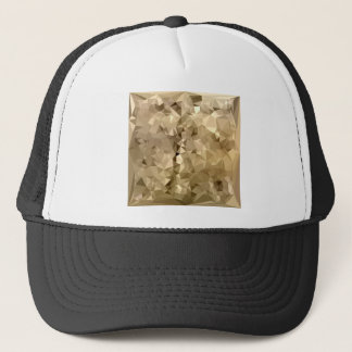 French Beige Abstract Low Polygon Background Trucker Hat