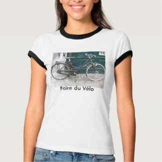 """French bicycle """"Faire du Velo"""" T-Shirt"""