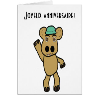 French birthday Card