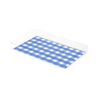 French Blue and White Gingham Perfume Tray