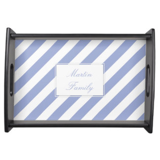 French Blue Stripes Serving Tray