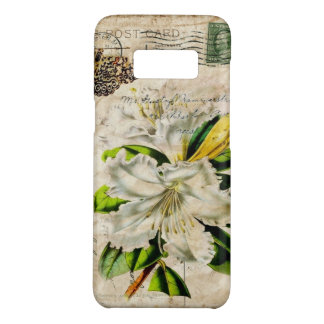 french botanical art country butterfly lily Case-Mate samsung galaxy s8 case