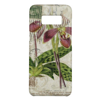 french botanical art shabby chic purple orchid Case-Mate samsung galaxy s8 case