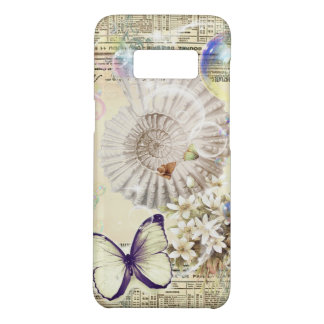 French botanical butterfly modern vintage seashell Case-Mate samsung galaxy s8 case