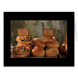 French bread at a market stall card