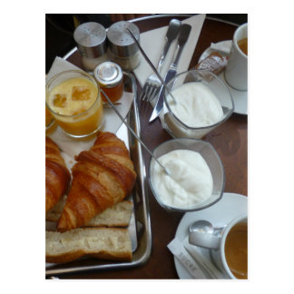 French breakfast postcard