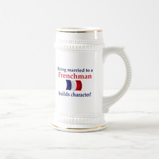 French Builds Character 18 Oz Beer Stein