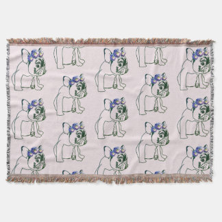 French Buldog Puppy, Sweet Throw Blanket