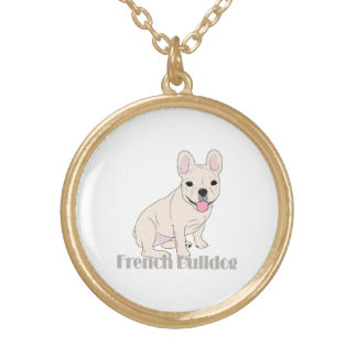 French Bulldog 1 Gold Plated Necklace