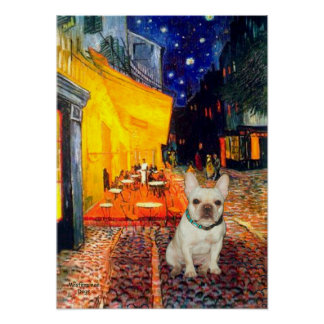 French Bulldog 1 - Terrace Cafe Poster
