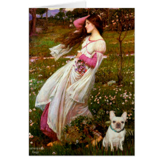 French Bulldog 1 - Windflowers Card