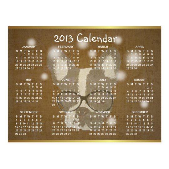French Bulldog 2013 Calendar Christmas Postcard