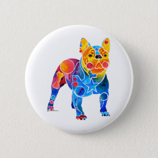 French Bulldog 2 Inch Round Button