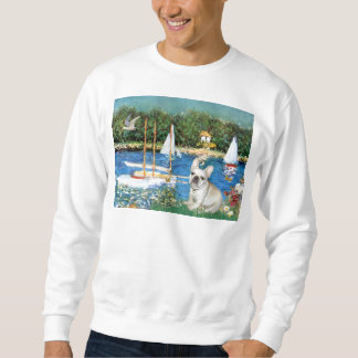 French Bulldog 3 - Sailboats Sweatshirt