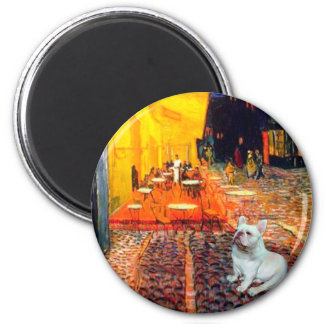 French Bulldog 4W - Terrace Cafe 2 Inch Round Magnet