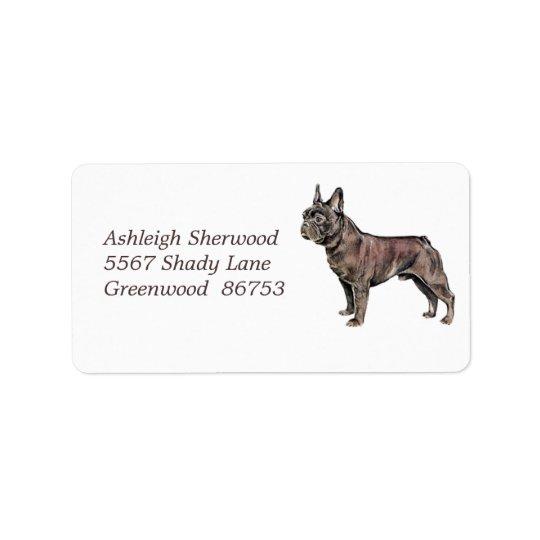 French Bulldog Address Label
