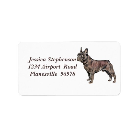 French Bulldog address label