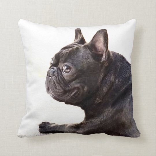 French bulldog American Mojo Throw Pillow
