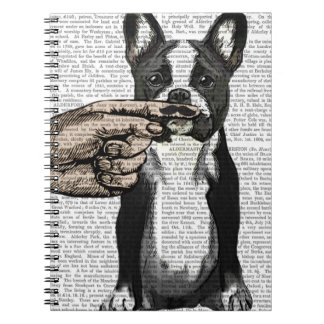 French Bulldog and Finger Moustache Spiral Notebook