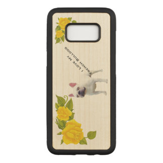 French Bulldog and yellow roses Carved Samsung Galaxy S8 Case