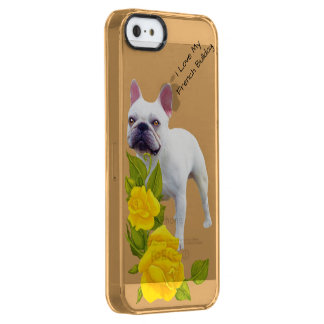 French Bulldog and yellow roses Clear iPhone SE/5/5s Case