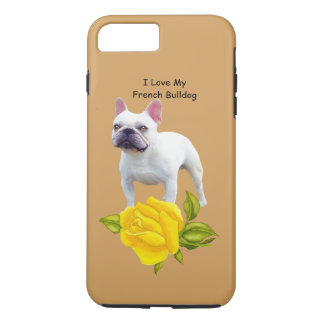 French Bulldog and yellow roses iPhone 8 Plus/7 Plus Case