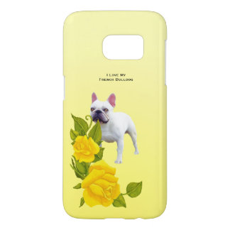 French Bulldog and yellow roses Samsung Galaxy S7 Case