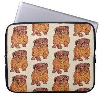 "French Bulldog Art Neoprene Laptop Sleeve 15"""