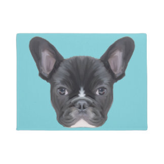 French Bulldog Art Portrait Doormat