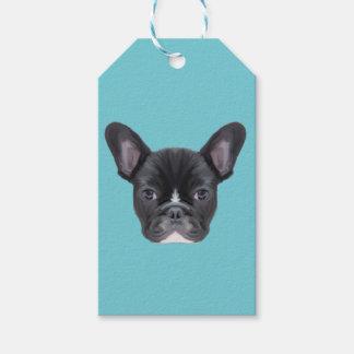 French Bulldog Art Portrait Gift Tags