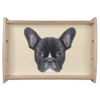 French Bulldog Art Portrait Serving Tray
